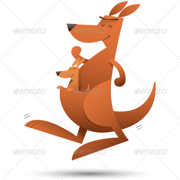GraphicRiver Kangaroo Jumping 3393274