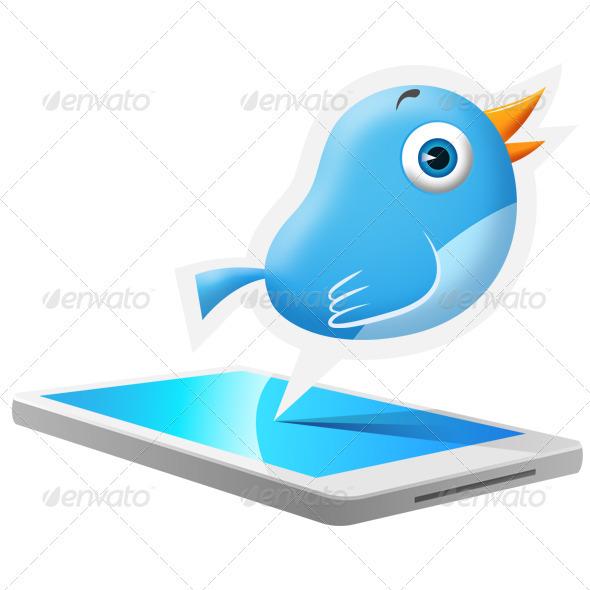 GraphicRiver Blue Bird Mobile 3393601