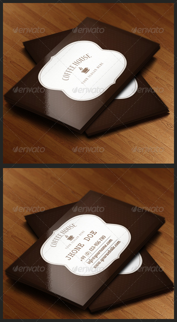 GraphicRiver Coffee Shop Business Card 3393623