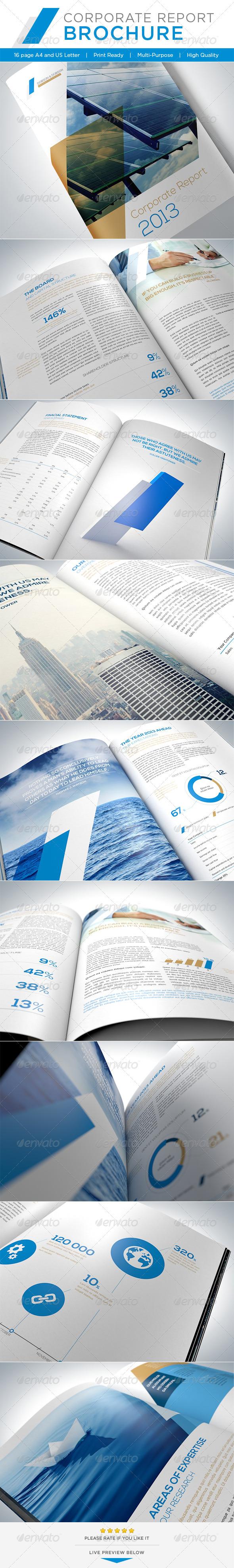 GraphicRiver Corporate Report Brochure 3394125