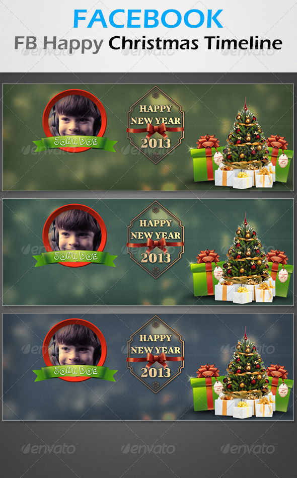 GraphicRiver FB Happy Christmas Timeline 3394183