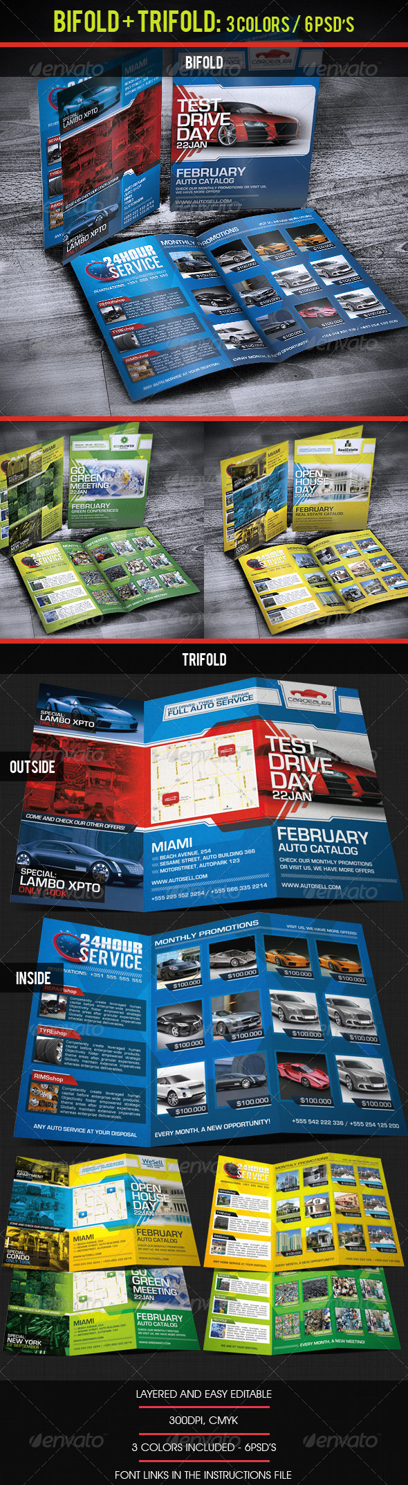 GraphicRiver Bifold & Trifold Business Catalog Brochure 3371885