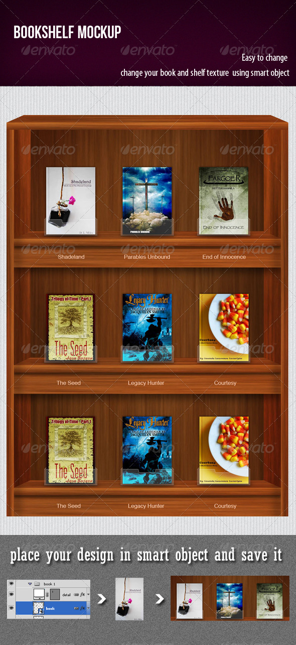GraphicRiver BookShelf Mockup 3394746