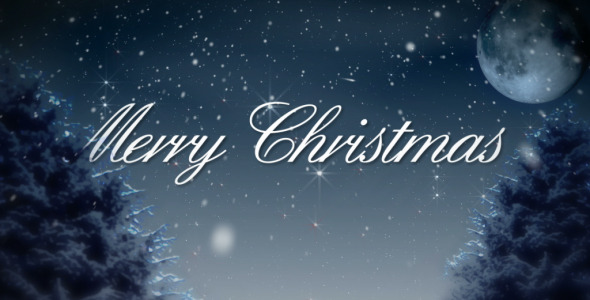 VideoHive Merry Christmas Snowy Winter Night 3374328
