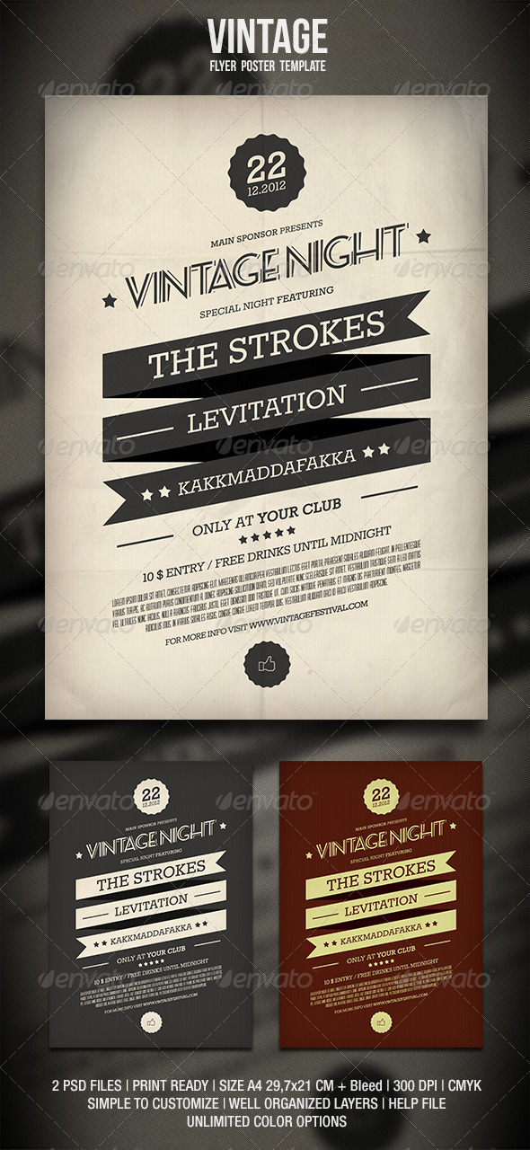 GraphicRiver Vintage Flyer Poster 2 3394861