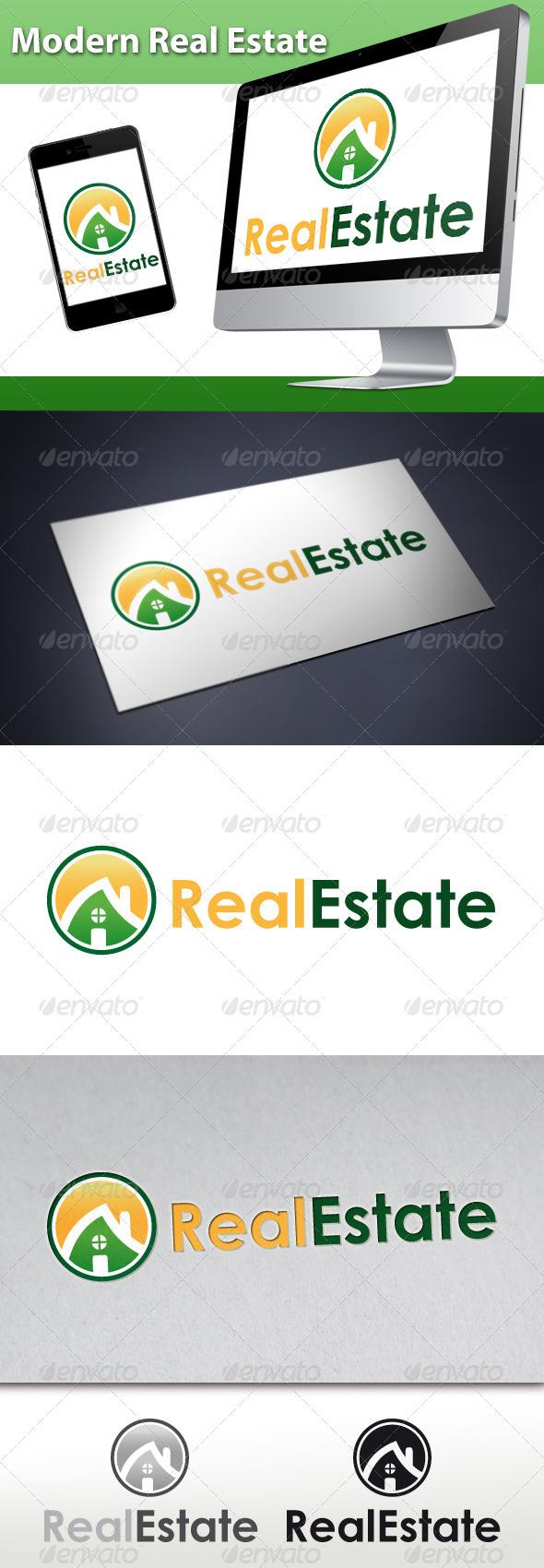 GraphicRiver Modern Real Estate Logo 1 3386062