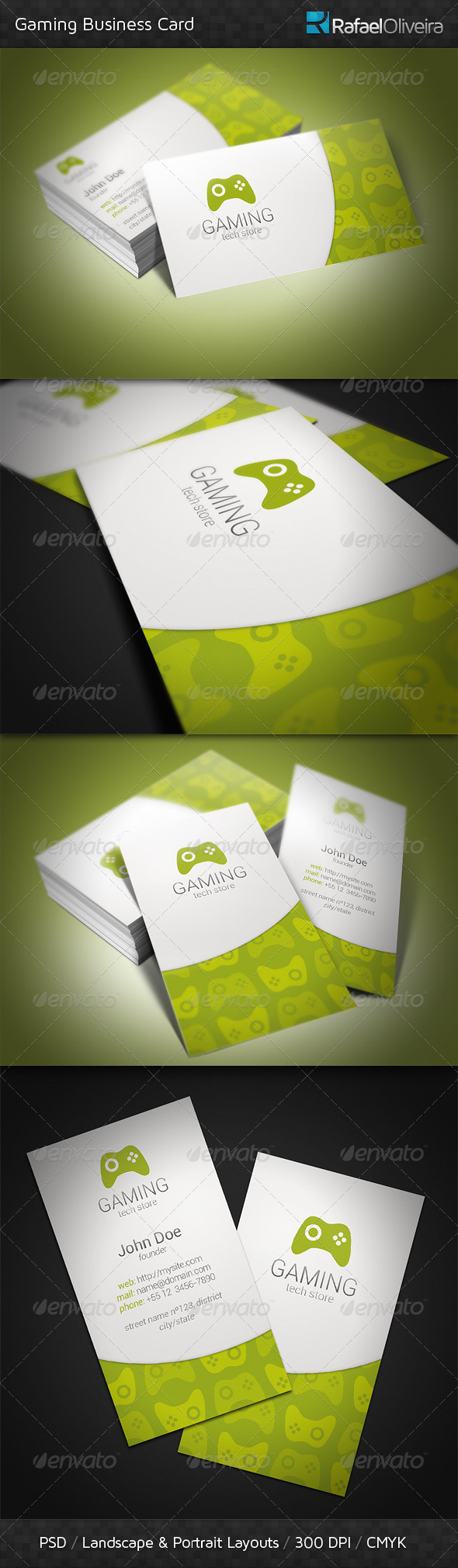 GraphicRiver Gaming Business Card 3394956