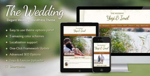 ThemeForest The Wedding Elegant Wedding WordPress Theme 2475860