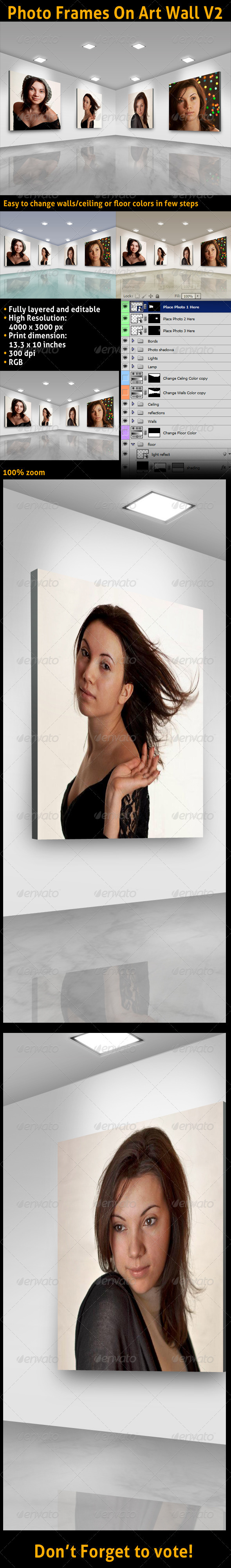 GraphicRiver Photo Frames On Art Wall V2 3396412