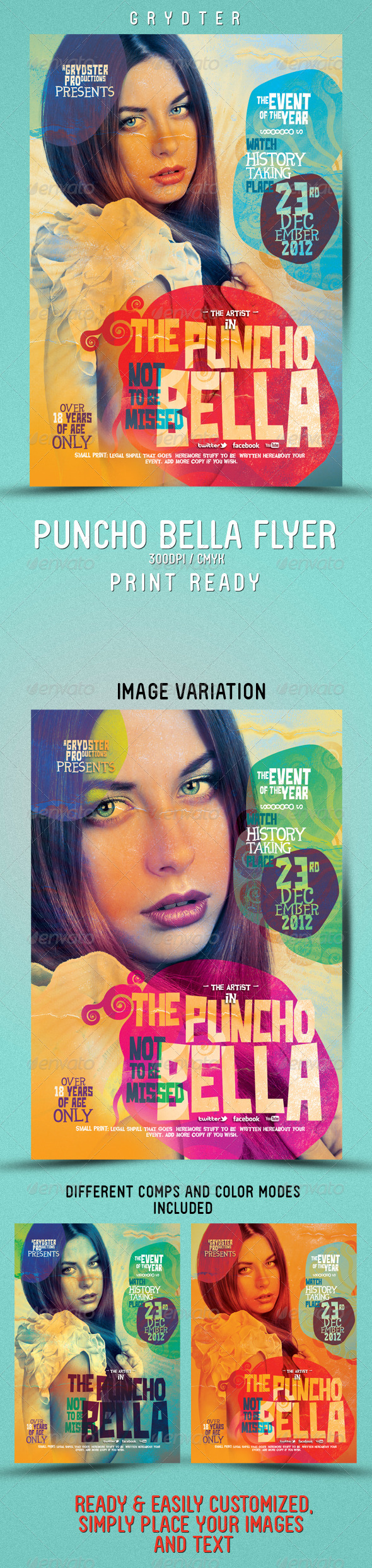 GraphicRiver Punch Bella Flyer 3396482
