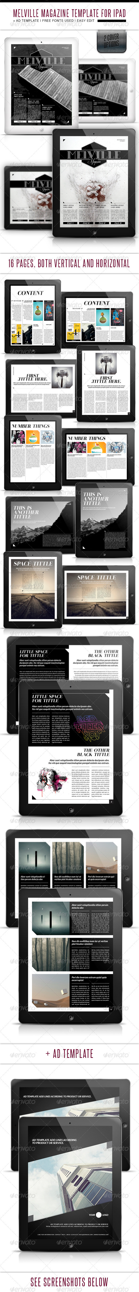 GraphicRiver Melville Tablet Magazine Template 3375944