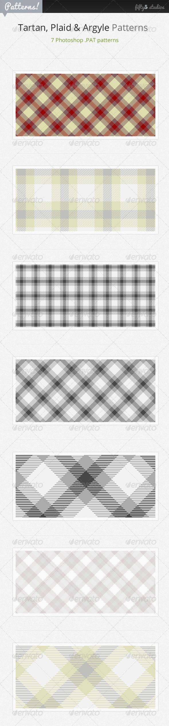 GraphicRiver 7 Tartan Plaid & Arglye Patterns 3376687