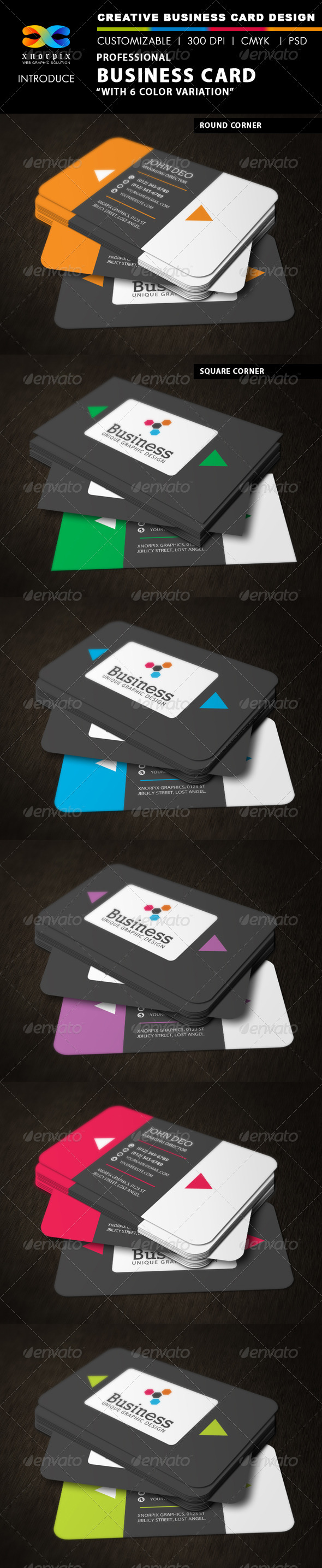 GraphicRiver Professional Business Card 3396964