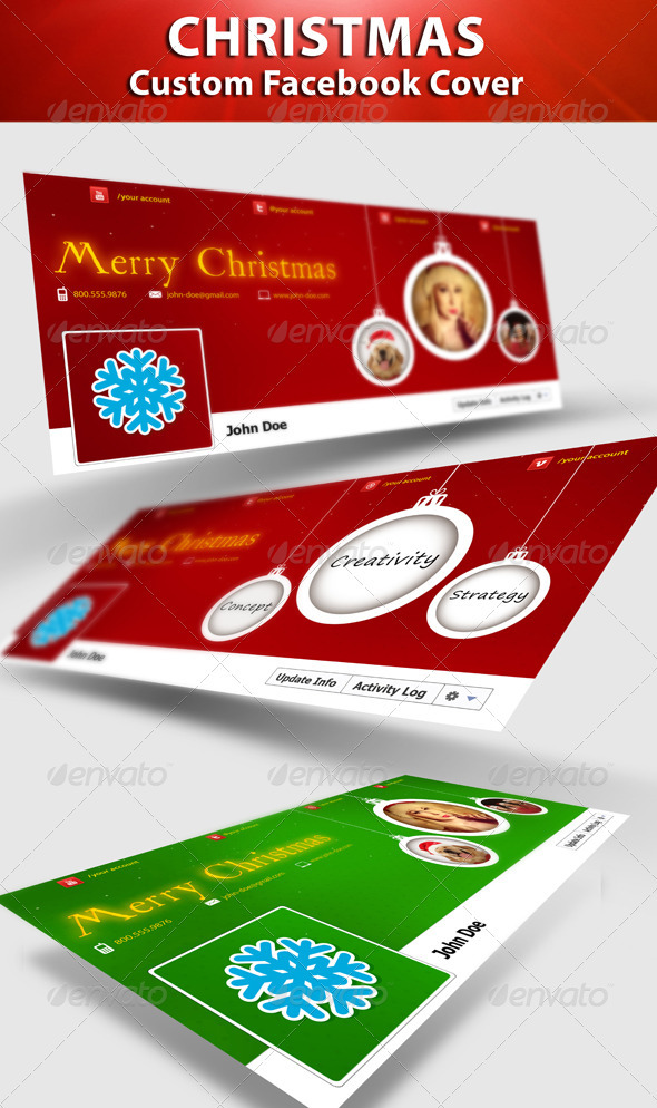 GraphicRiver Christmas FB Timeline 3194907