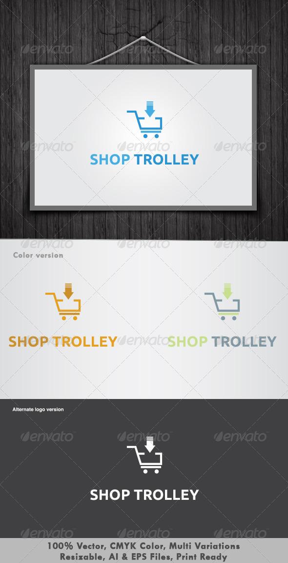 GraphicRiver Shop Trolley Logo 3362478