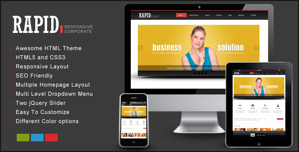 Rapid – Responsive HTML Template