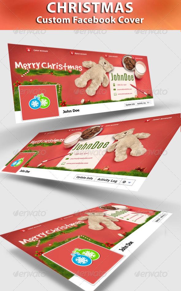 GraphicRiver Cookie For Santa FB Timeline 3339679