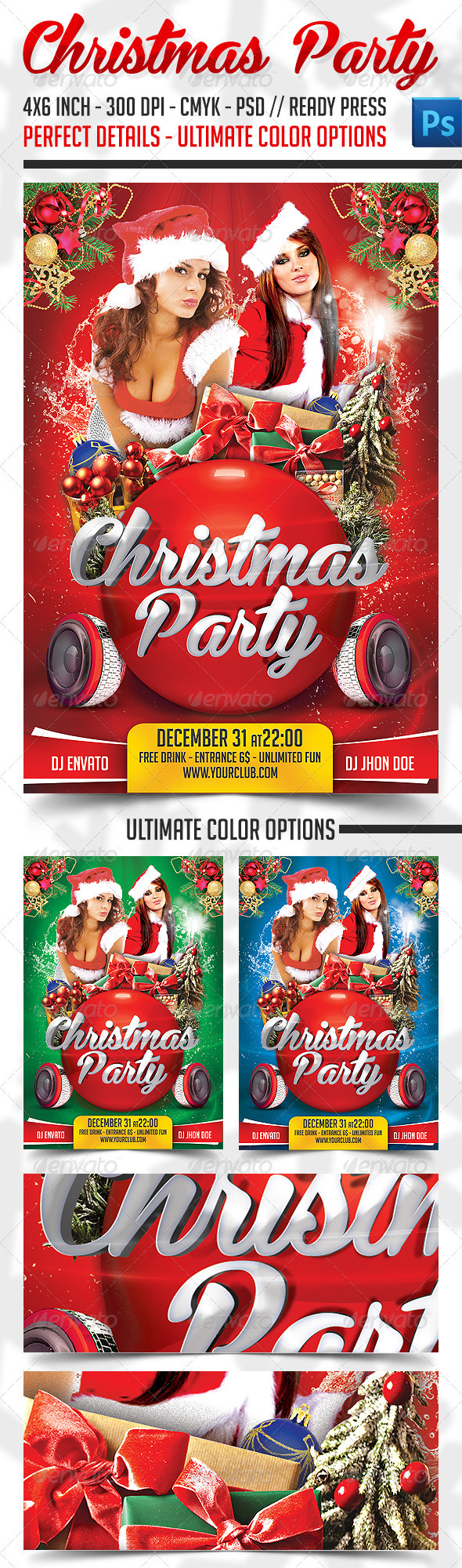 GraphicRiver Christmas Party Flyer 3357344