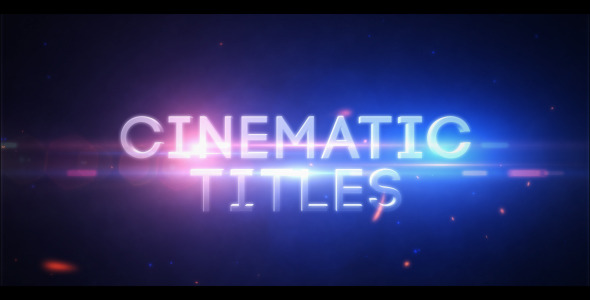 After Effects Project - VideoHive Cinematic Titles 3398785
