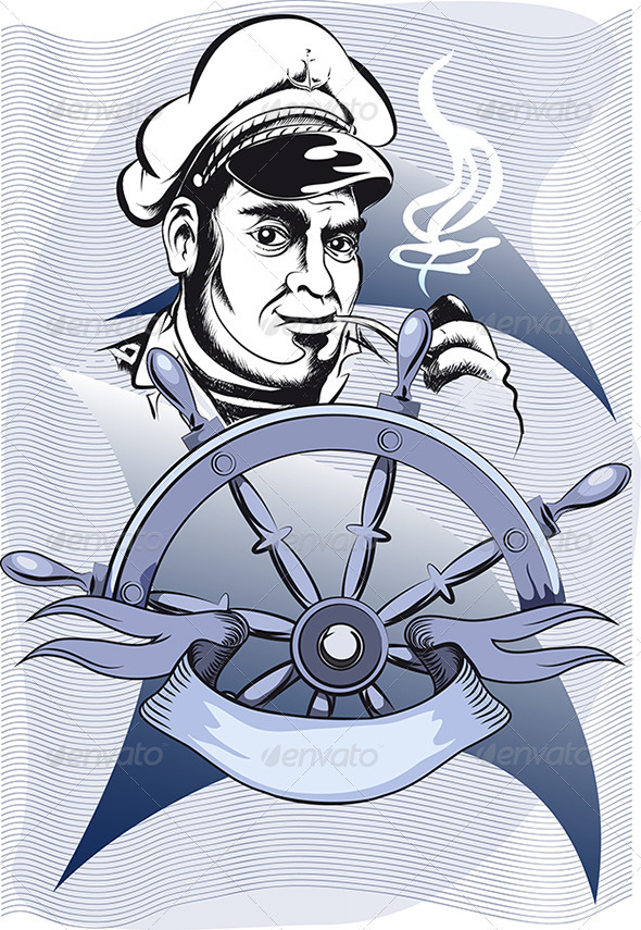 GraphicRiver Captain Behid the Wheel 3357345