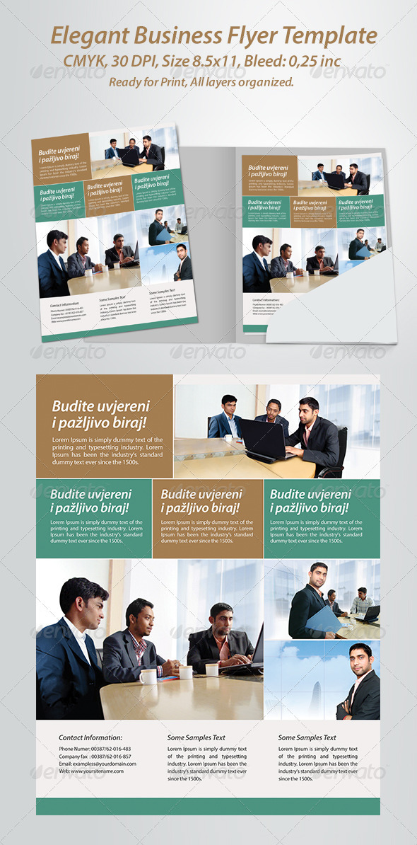 GraphicRiver Elegant Business Flyer Template 3399066