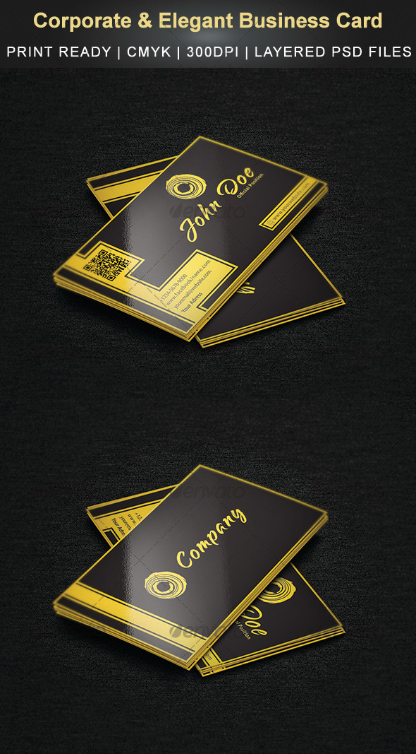 GraphicRiver Corporate & Elegant Business Card 3399092