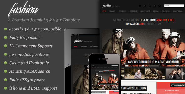 Fashion - Responsive Joomla Template