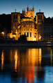 Notre Dame de Fourviere in Lyon illuminated - PhotoDune Item for Sale