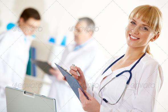 Friendly nurse - Stock Photo - Images