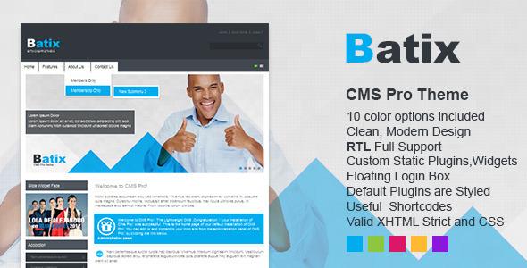 ThemeForest Batix Premium CMS pro theme 3321397