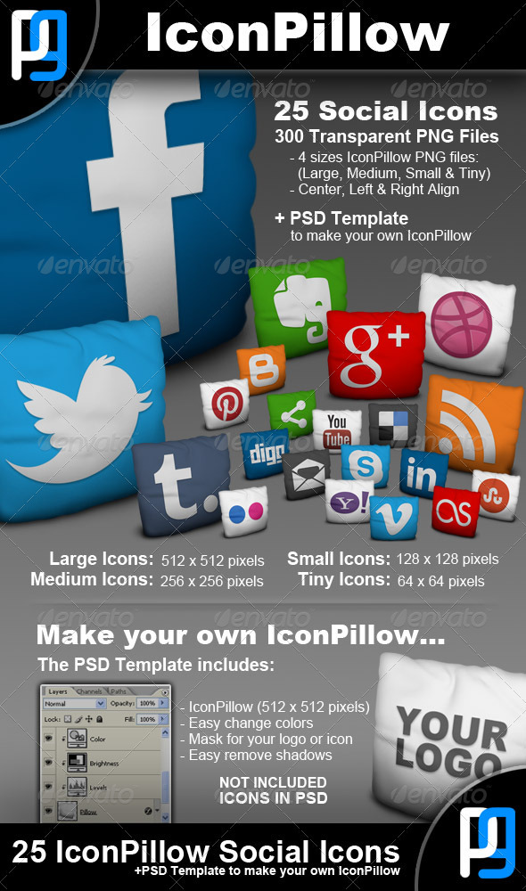 GraphicRiver 25 Social Network Icons 3399804
