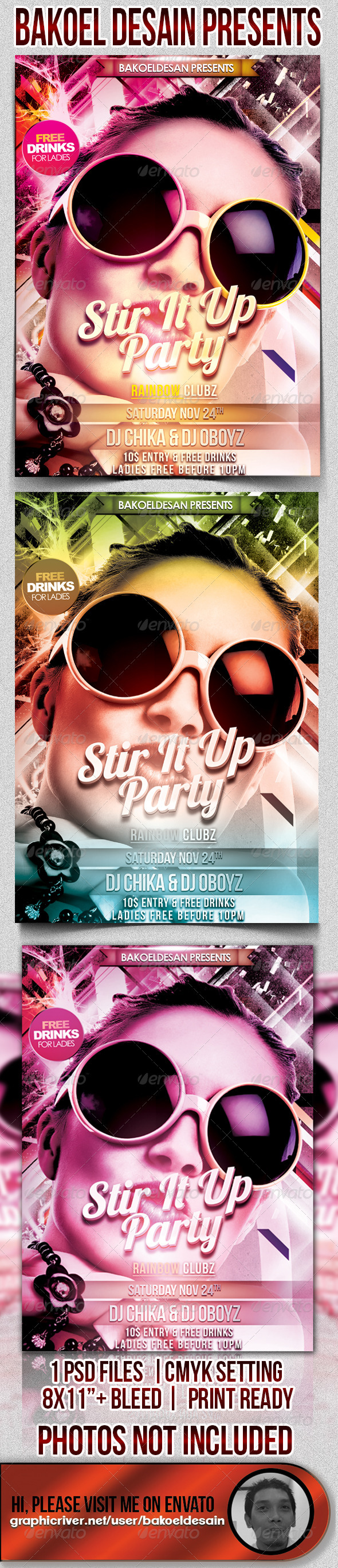 Stir It Up Party Flyer - Clubs & Parties Events