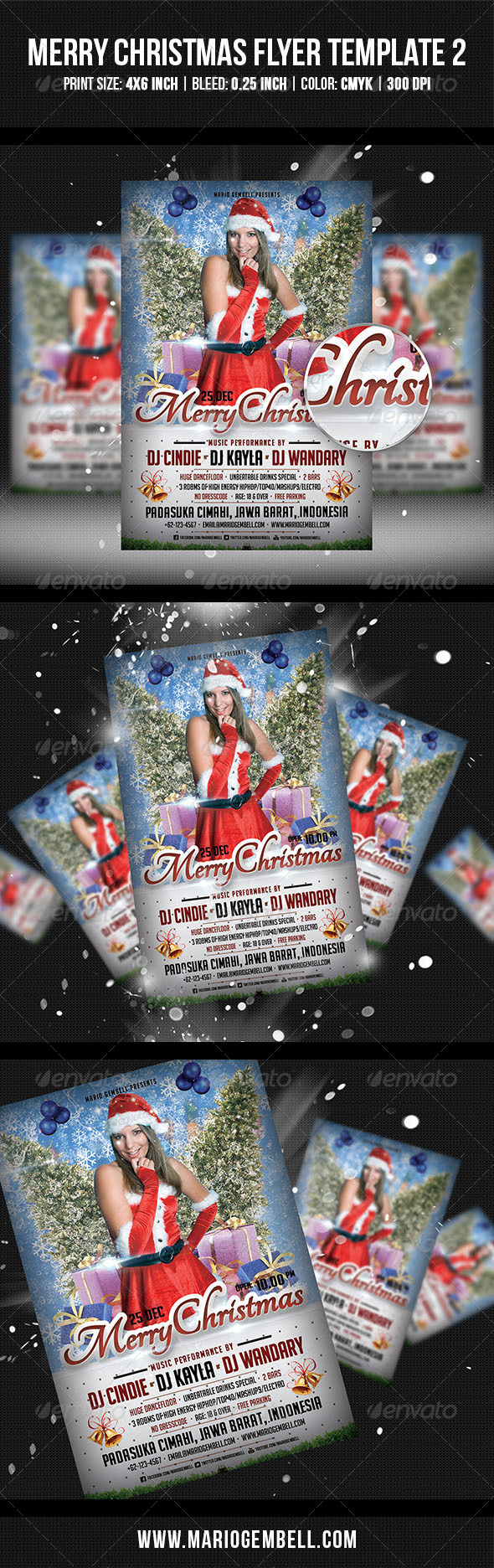 Merry Christmas Flyer Template 2 - Clubs & Parties Events
