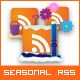 12 Seasonal RSS Icons
