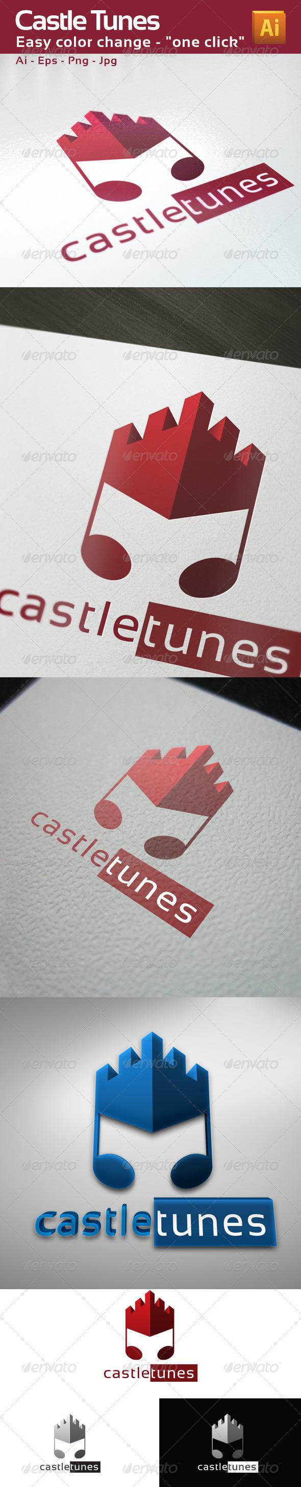 GraphicRiver Castle Tunes Music Logo Template 3401145