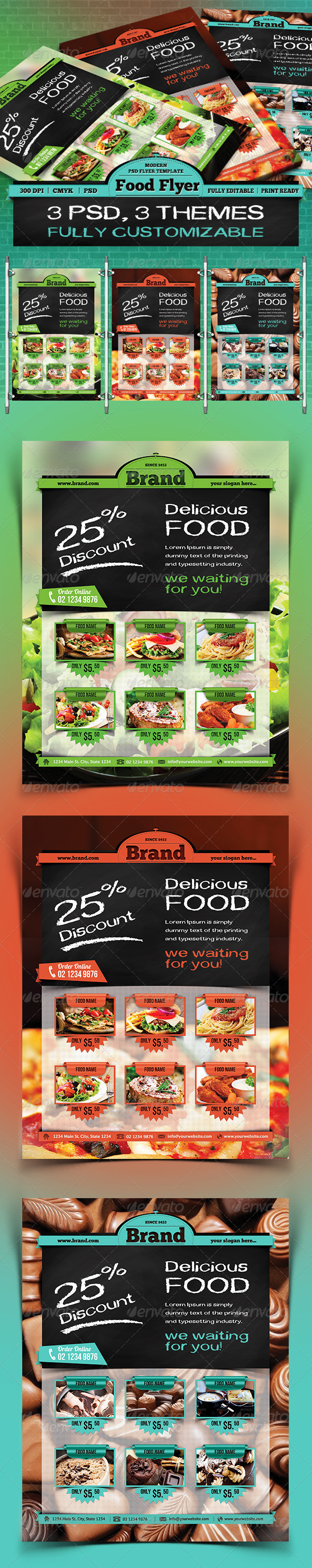 GraphicRiver Food Flyer 3401303