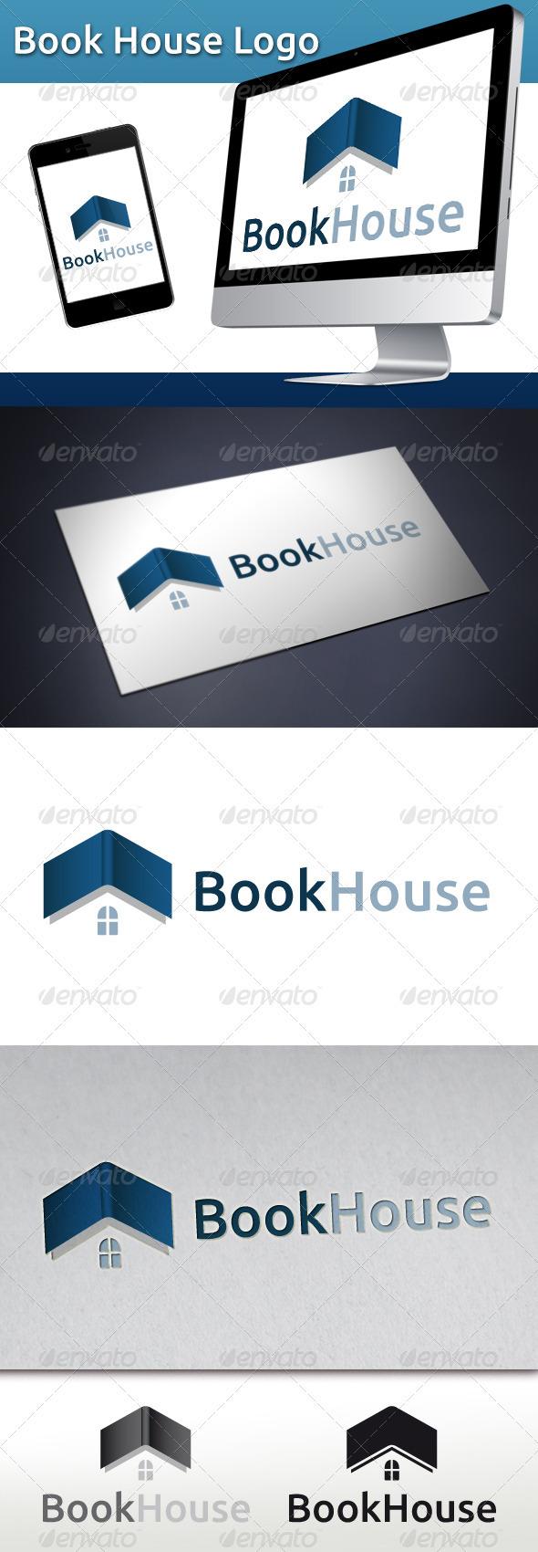 GraphicRiver Book House Logo 3401329