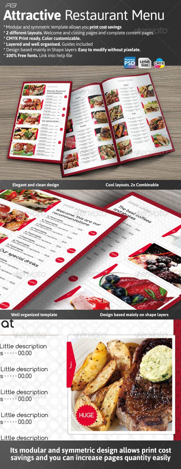 GraphicRiver Attractive Menu Template 3304040