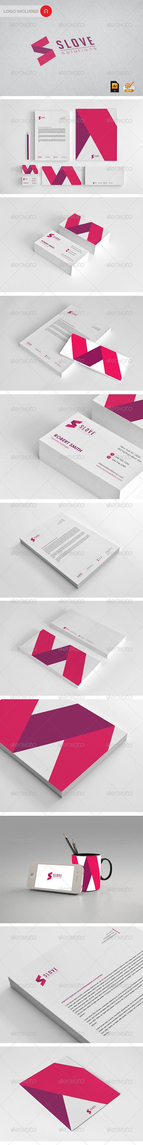 GraphicRiver Stationary & Identity Slove solutions 3401455