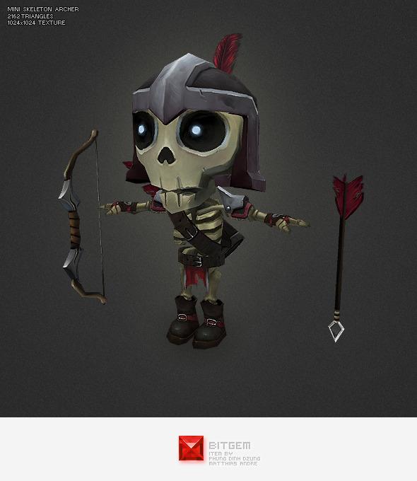 Low Poly Mini Skeleton Tail - 3DOcean Item for Sale