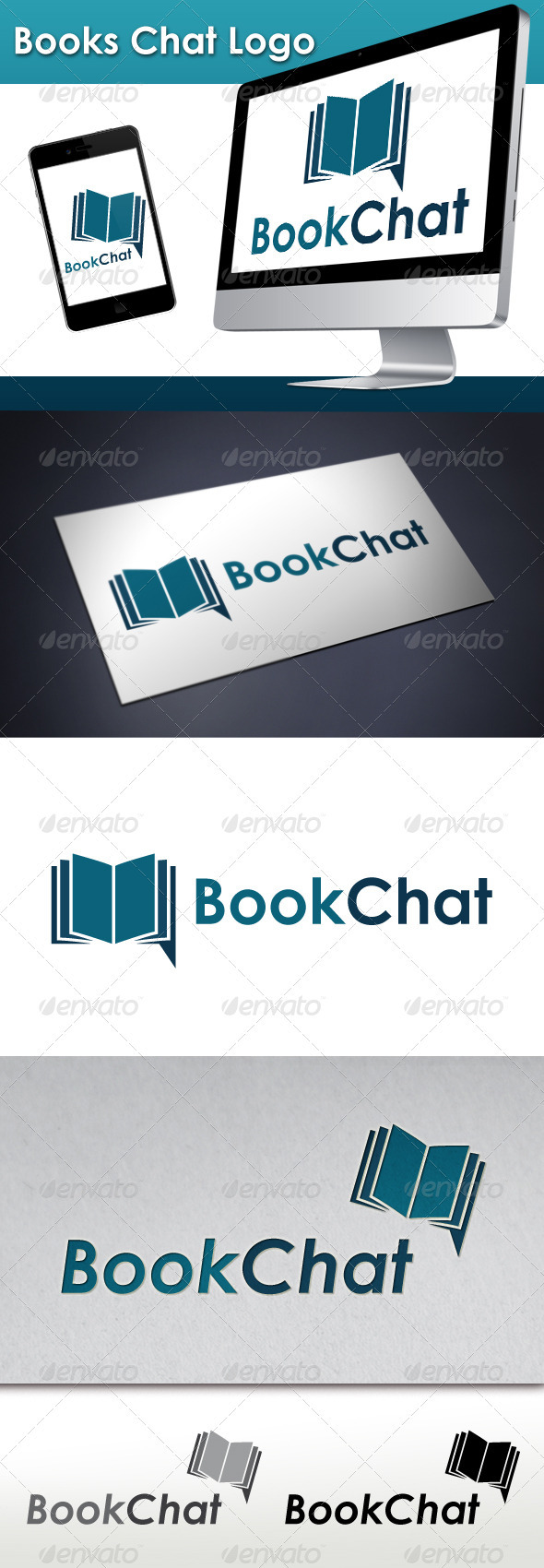 GraphicRiver Books Chat Logo 3402408