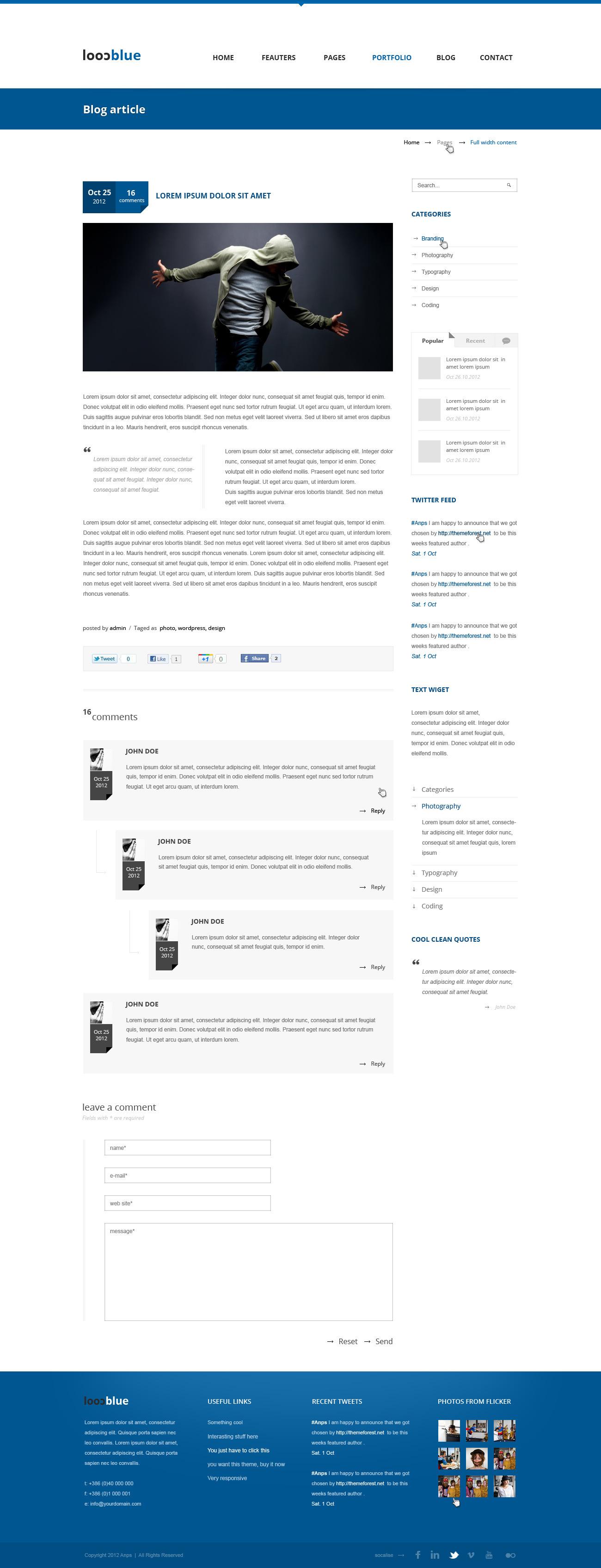 Coolblue - Multipurpose PSD Theme