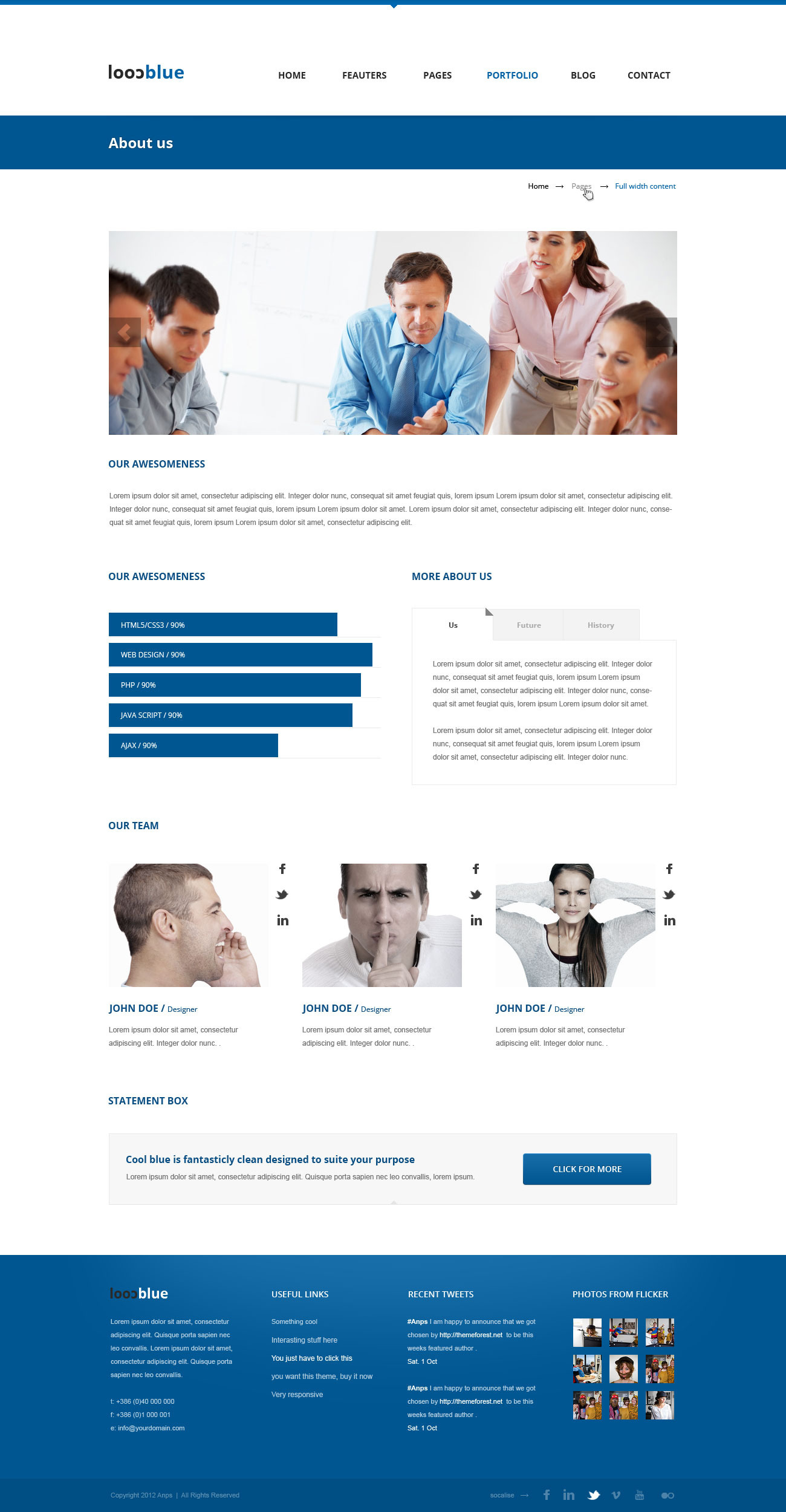 Coolblue - Multipurpose PSD Theme