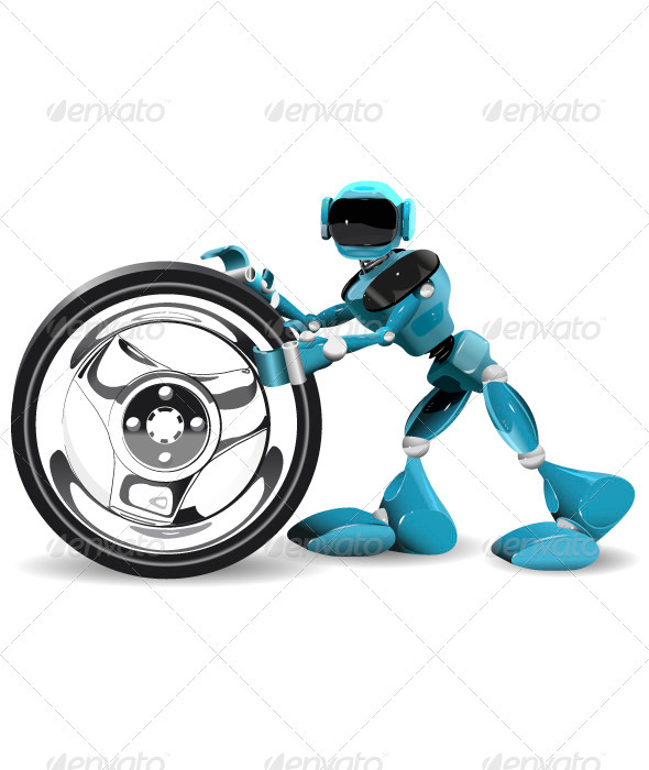 GraphicRiver Robot and Wheel 3403631