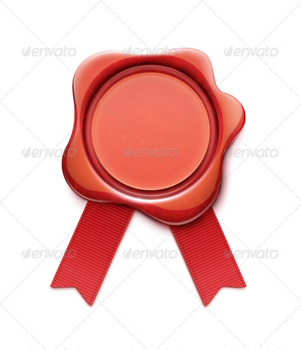 GraphicRiver Red Wax Seal 3403877