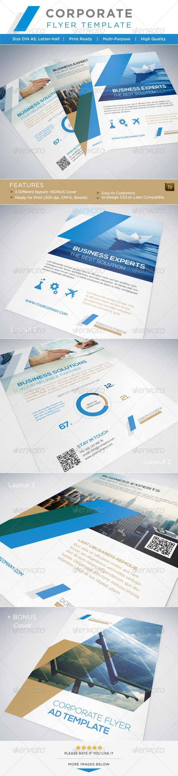 GraphicRiver Corporate Flyer AD Template 3404074