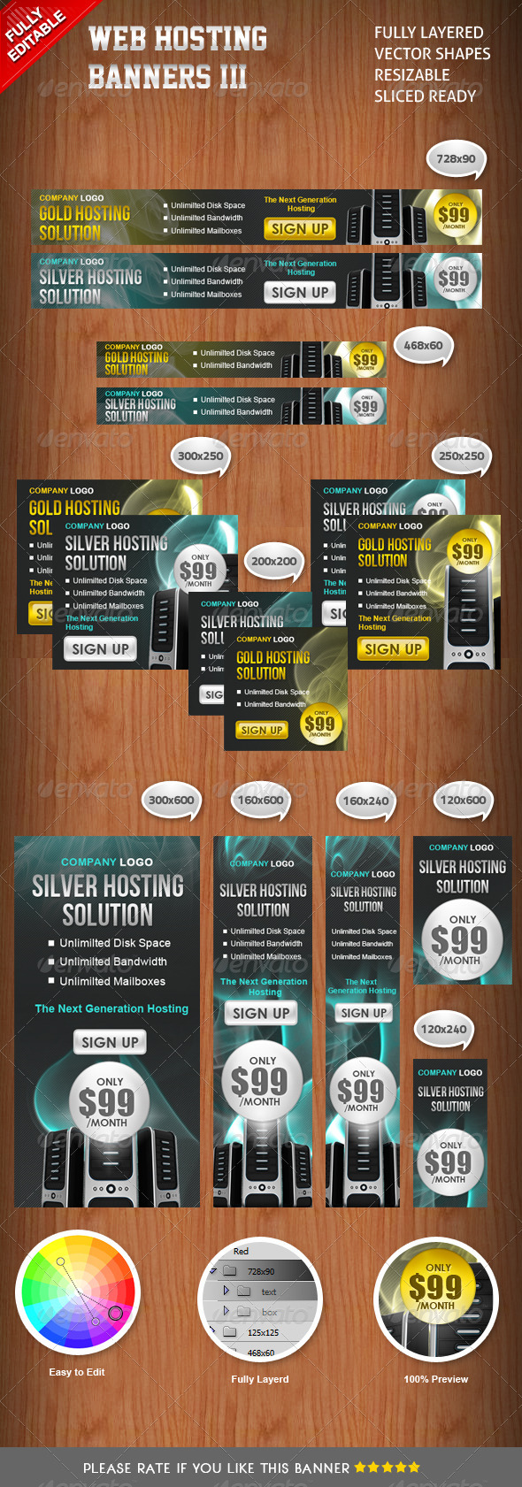 GraphicRiver Banners Hosting III 3404150