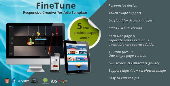 ThemeForest FineTune Responsive Creative Portfolio Template 3351599
