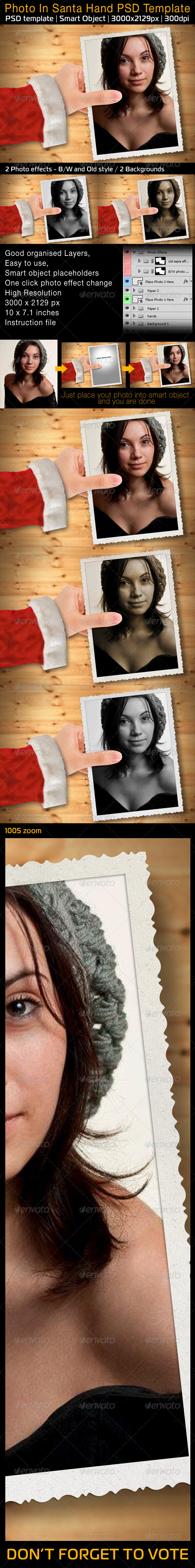 GraphicRiver Photo In Santa Hand 3384450