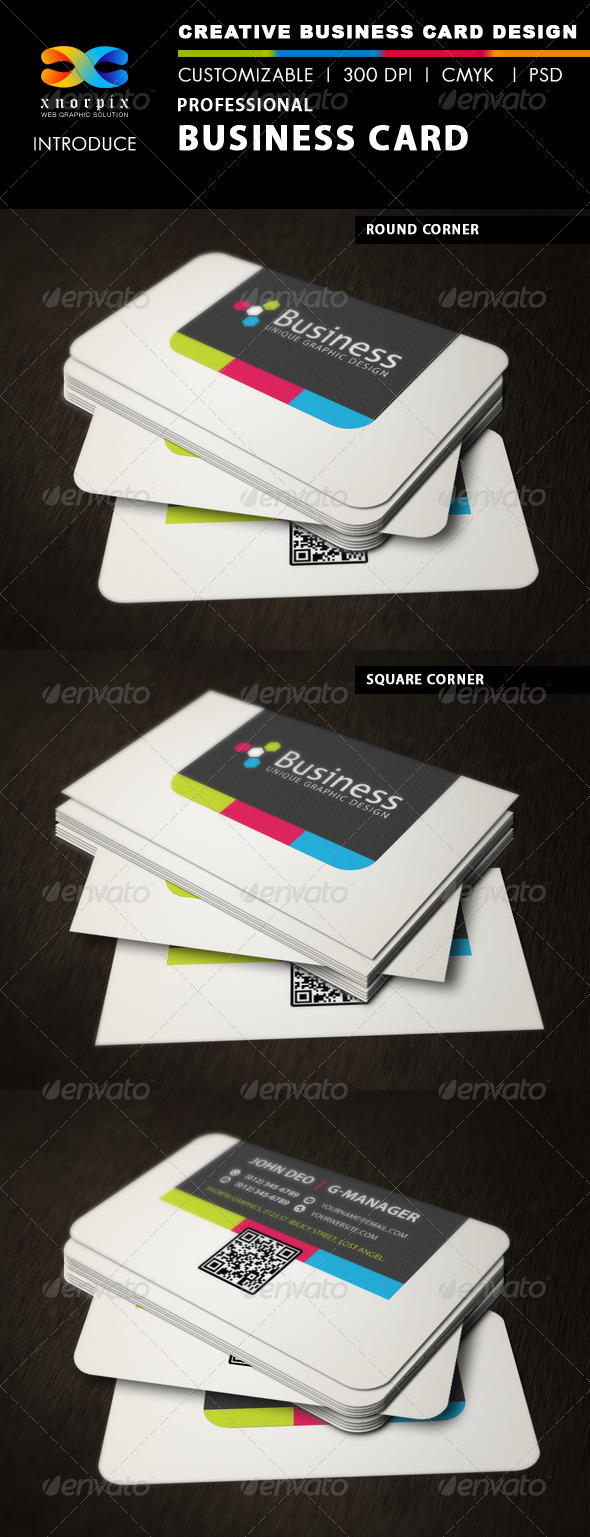 GraphicRiver Professional Business Card 3405298